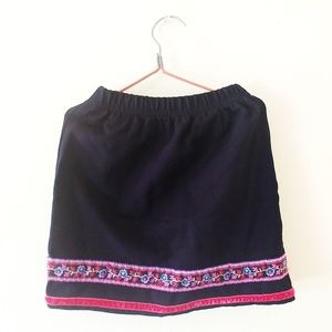 Hanna Andersson 90 Skirt 3T Embroidered Floral